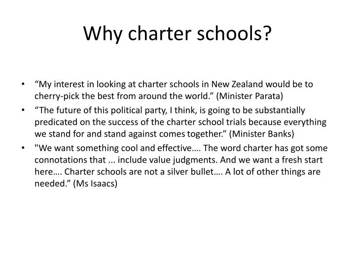 Why charter schools