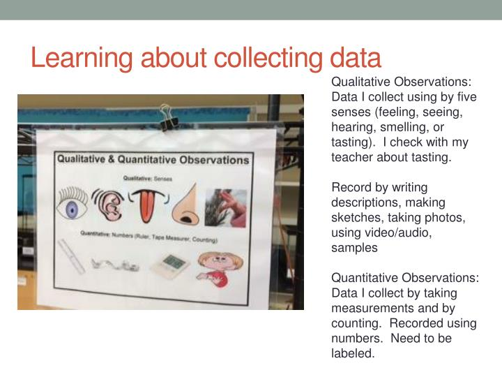 Learning about collecting data