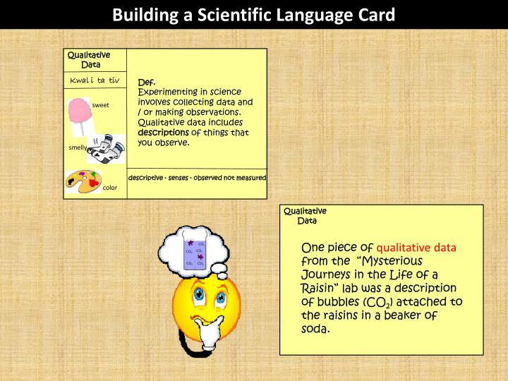 Building a Scientific Language Card