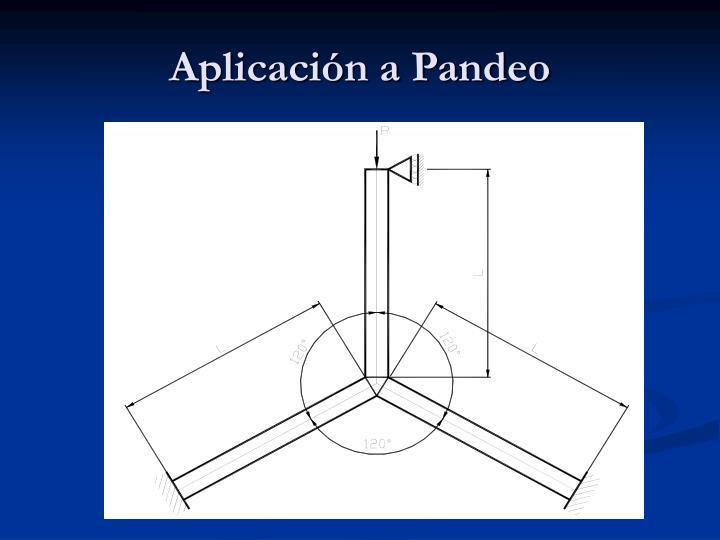 Aplicación a Pandeo