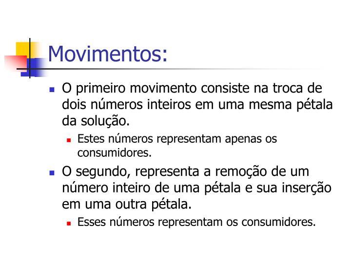 Movimentos: