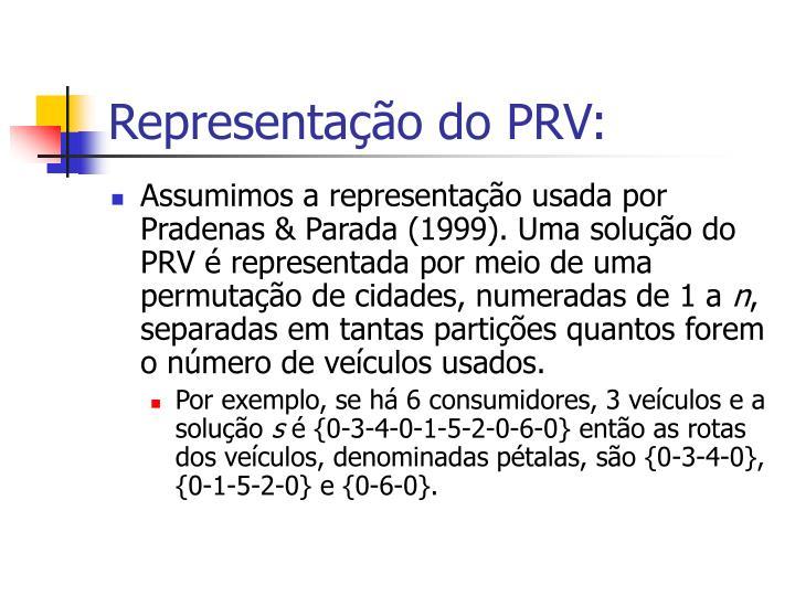 Representação do PRV: