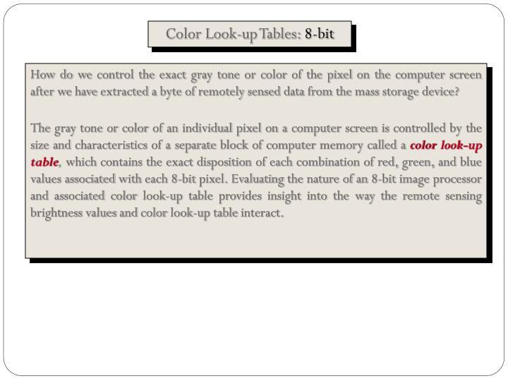Color Look-up Tables: