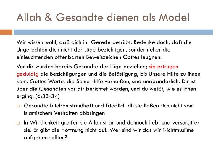Allah & Gesandte dienen als Model