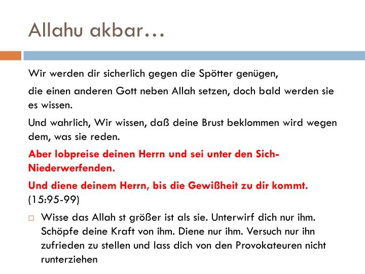 Allahu akbar…