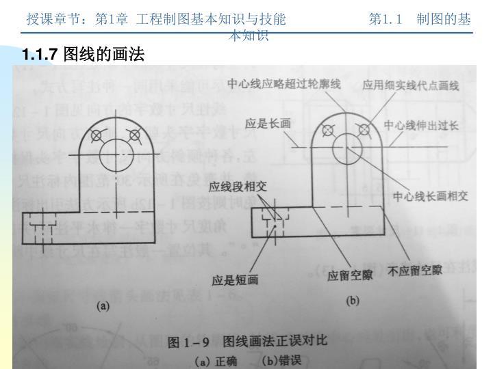 授课章节:第1章 工程制图基本知识与技能