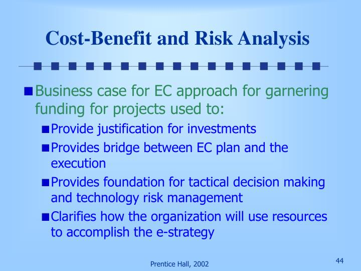 Cost-Benefit and Risk Analysis