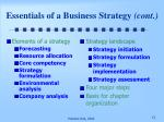 essentials of a business strategy cont1