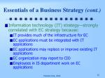 essentials of a business strategy cont2