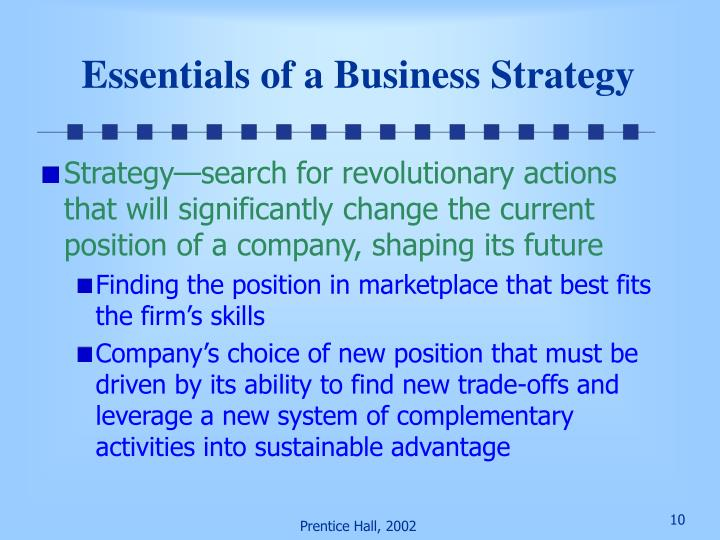 Essentials of a Business Strategy