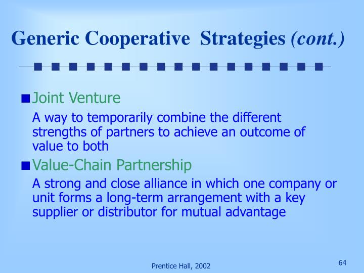 Generic Cooperative  Strategies