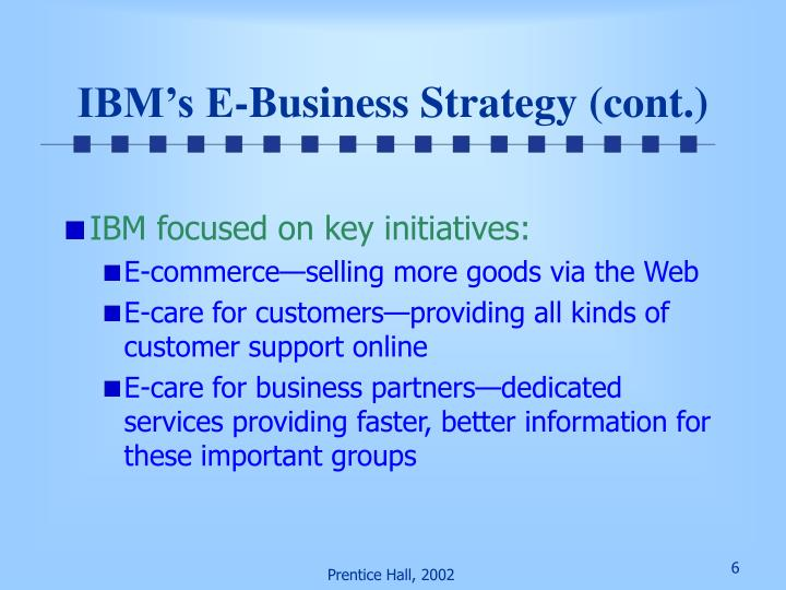 IBM's E-Business Strategy (cont.)