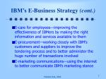 ibm s e business strategy cont1