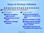 issues in strategy initiation