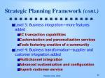 strategic planning framework cont