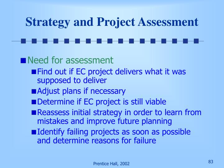 Strategy and Project Assessment