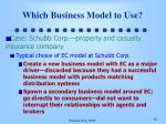 which business model to use