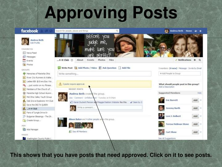 Approving Posts