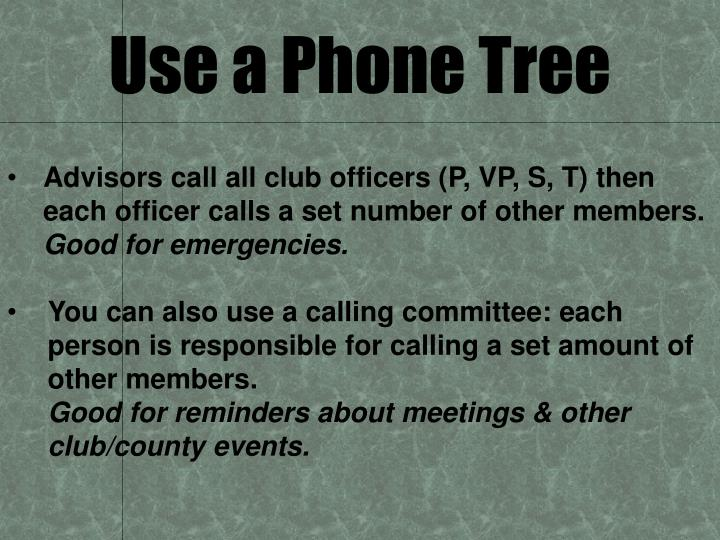 Use a Phone Tree