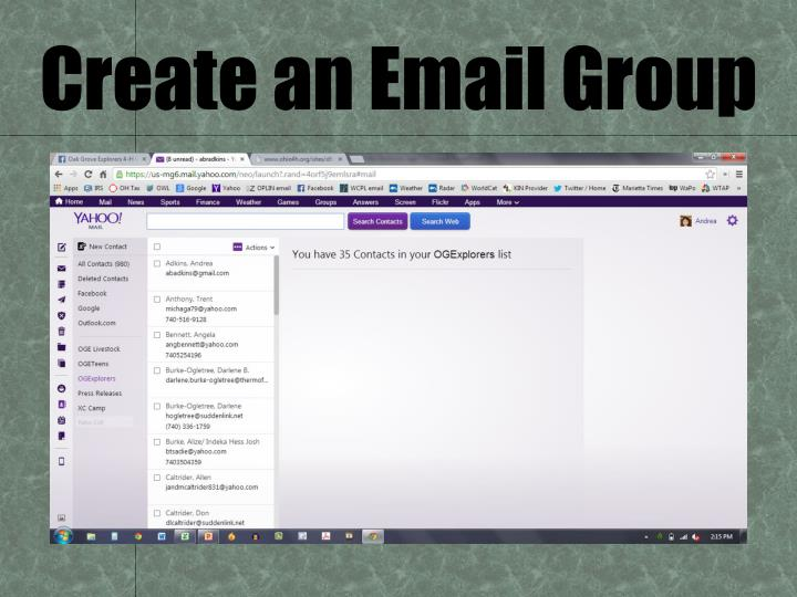 Create an Email Group