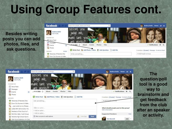 Using Group Features