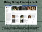 using group features cont1