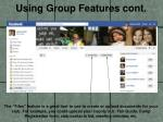 using group features cont4