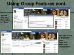 using group features cont5