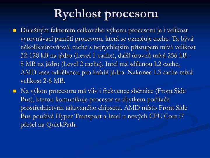 Rychlost procesoru