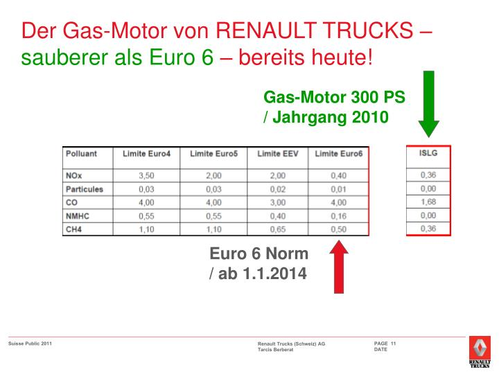 Der Gas-Motor von RENAULT TRUCKS –
