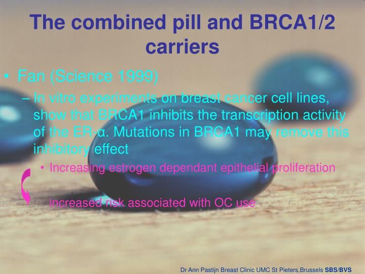 The combined pill and BRCA1/2 carriers