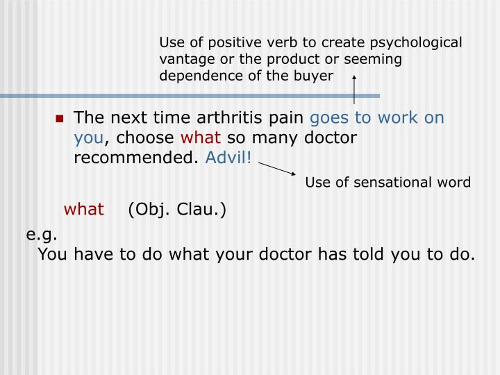 The next time arthritis pain