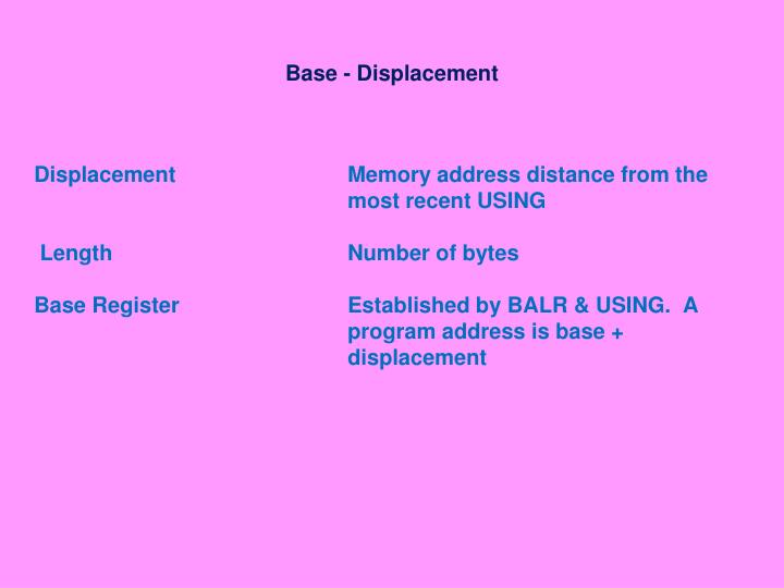 Base displacement1