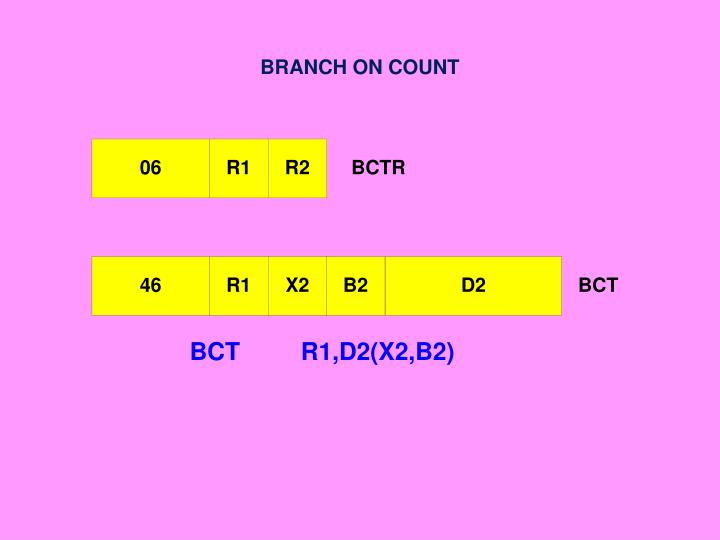 BRANCH ON COUNT
