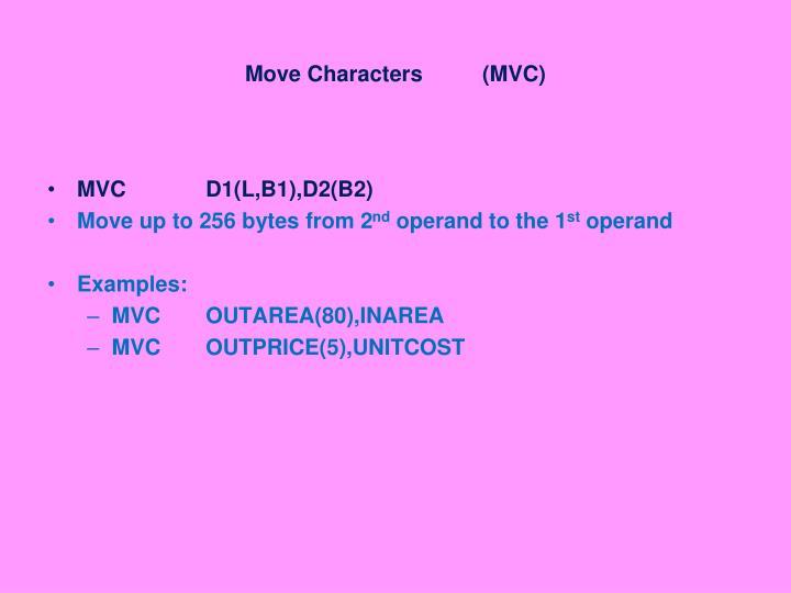 Move Characters (MVC)