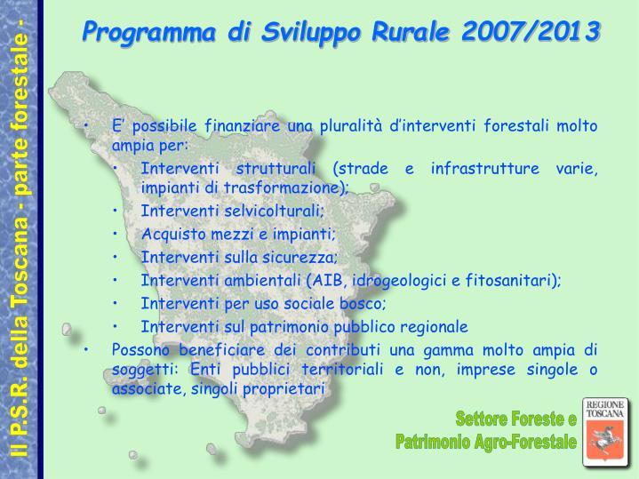 Programma di Sviluppo Rurale 2007/2013