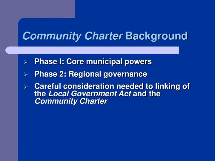 Community Charter