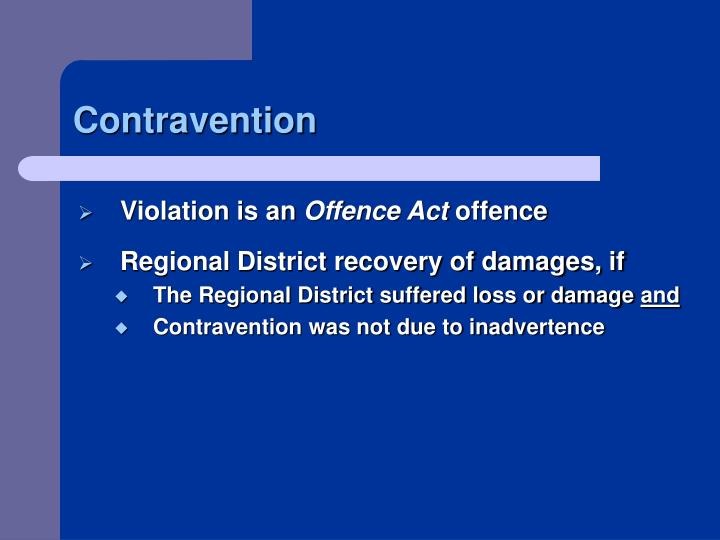 Contravention