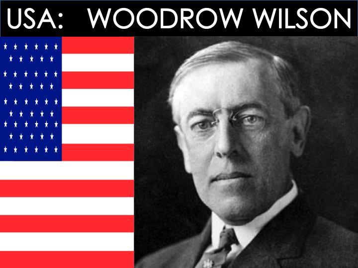 USA:   WOODROW WILSON
