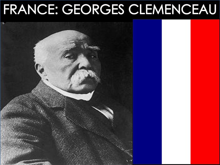 FRANCE: GEORGES CLEMENCEAU