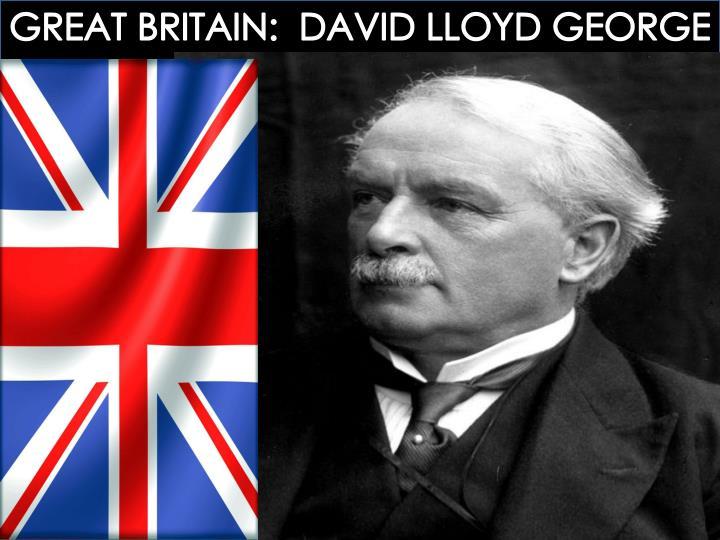 GREAT BRITAIN:  DAVID LLOYD GEORGE