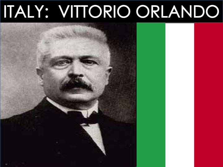 ITALY:  VITTORIO ORLANDO