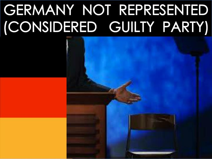 GERMANY  NOT  REPRESENTED