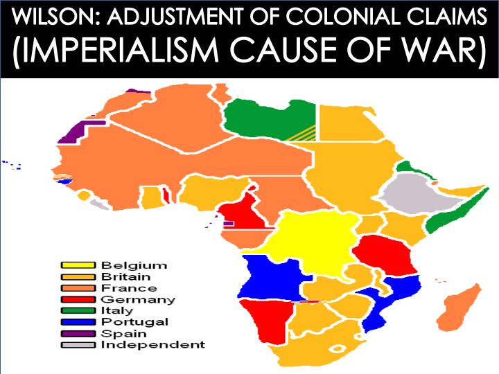 WILSON: ADJUSTMENT OF COLONIAL CLAIMS