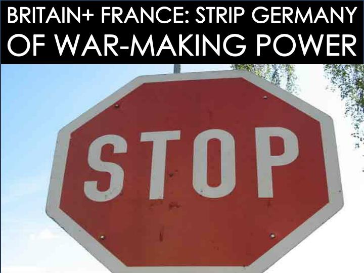 BRITAIN+ FRANCE: STRIP GERMANY