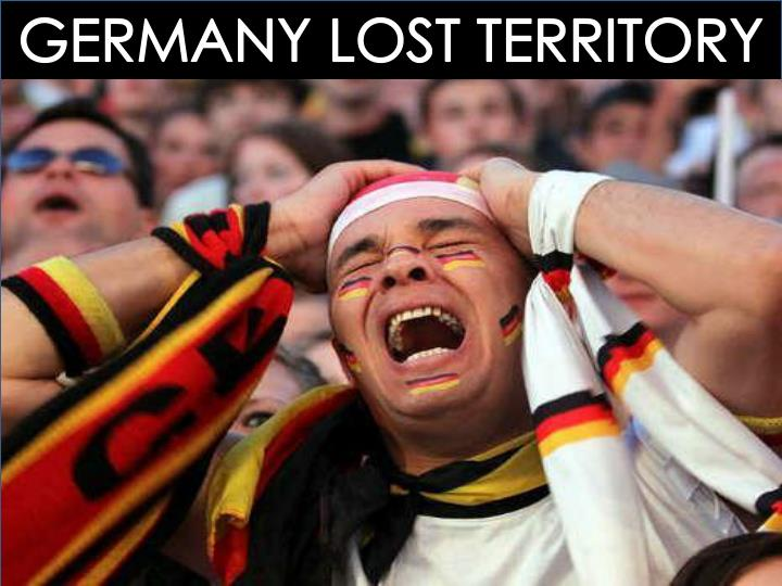 GERMANY LOST TERRITORY