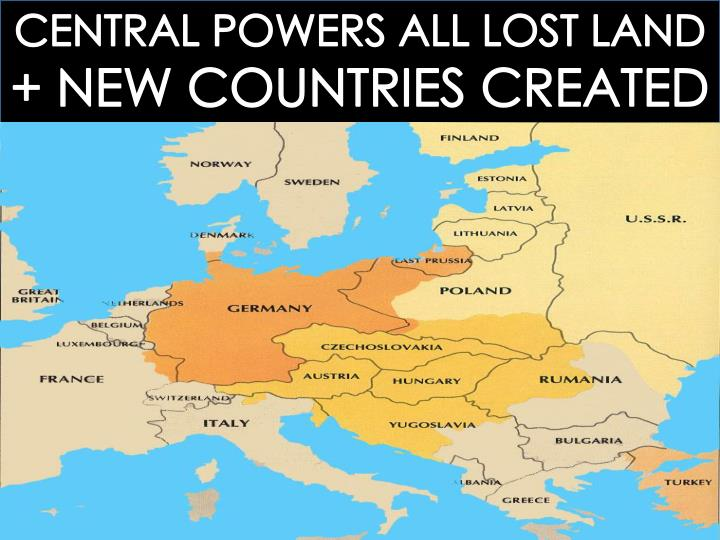CENTRAL POWERS ALL LOST LAND