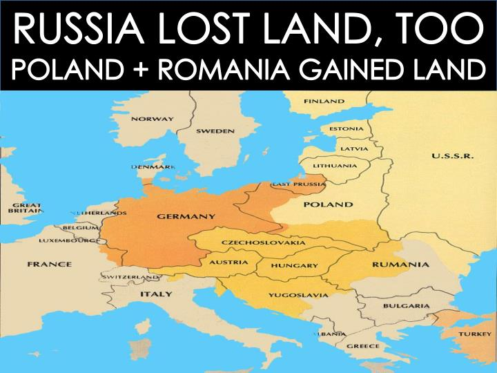 RUSSIA LOST LAND, TOO