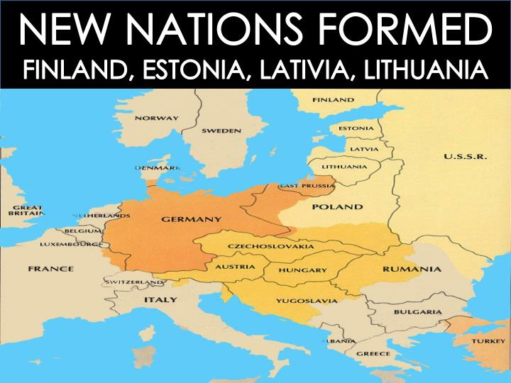 NEW NATIONS FORMED