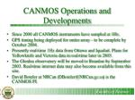 canmos operations and developments